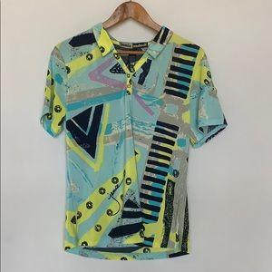 Jamie Sadock Short Sleeve Golf Shirt Snap Front